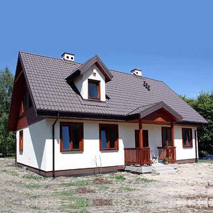 Domy drewniane kanadyjskie - realizacja firmy budowlanej NOKON