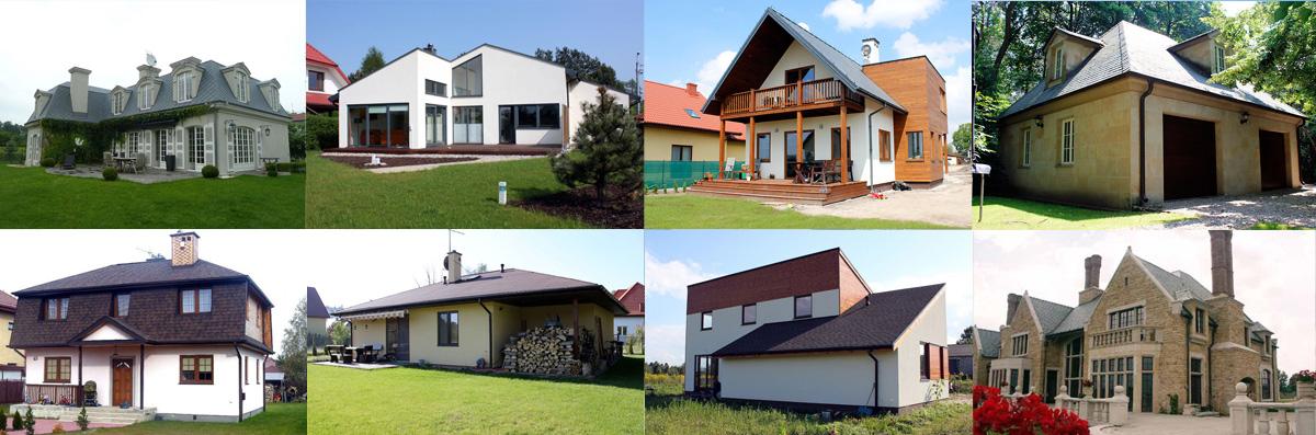 Budowa domu - przykładowe realizacje firmy budowlanej NOKON