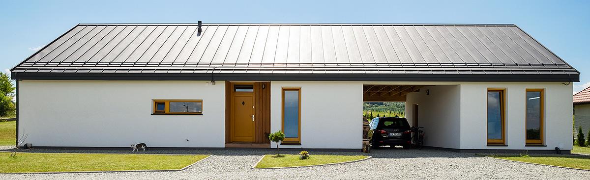 Dom energooszczędny - realizacja firmy budowlanej NOKON